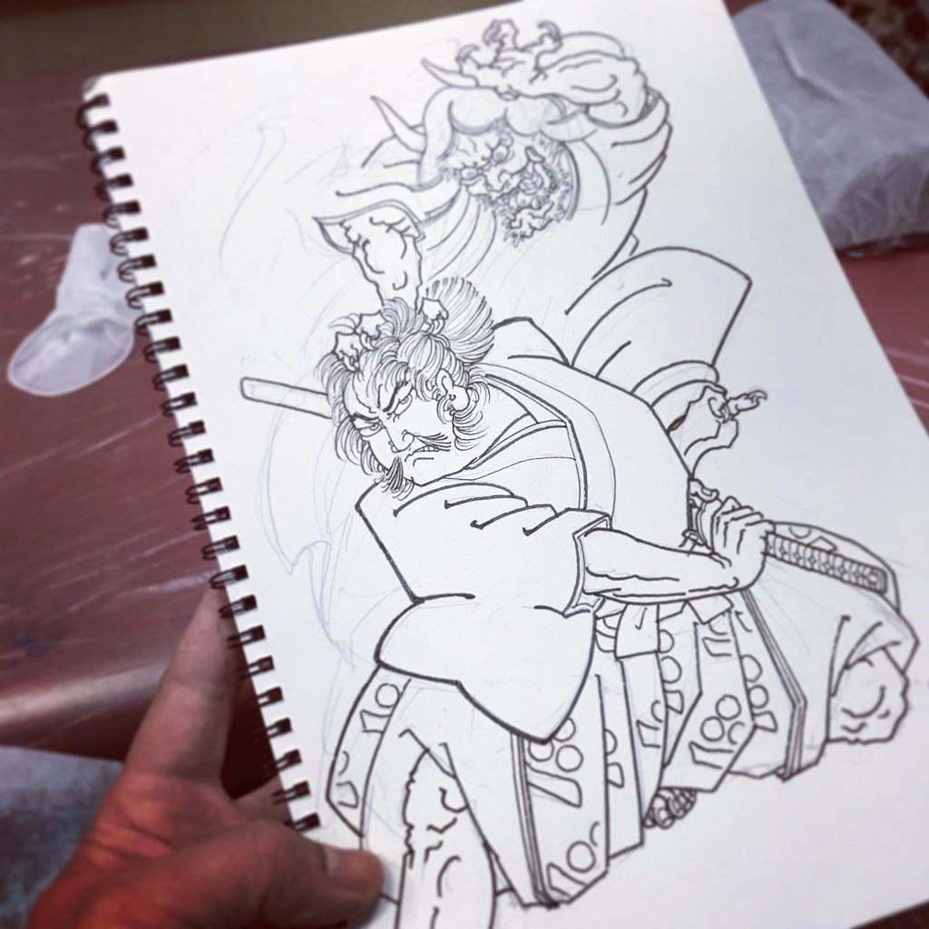 渡邊綱 茨木童子の腕を切り落とすの図
