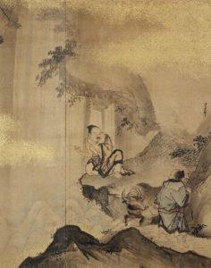 許由巣父図屏風 久隅守景筆 東京国立博物館蔵
