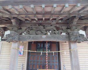 津久根八幡神社向拝
