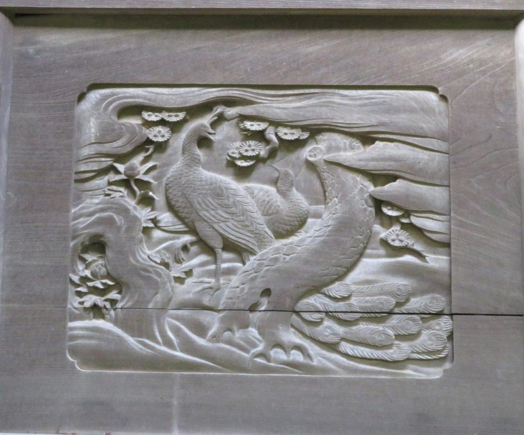 孔雀と牡丹