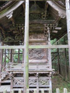 東條健代神社本殿北面