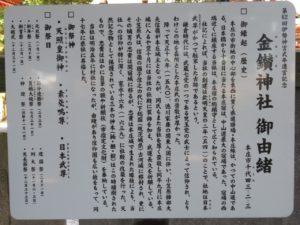 金鑚神社由緒