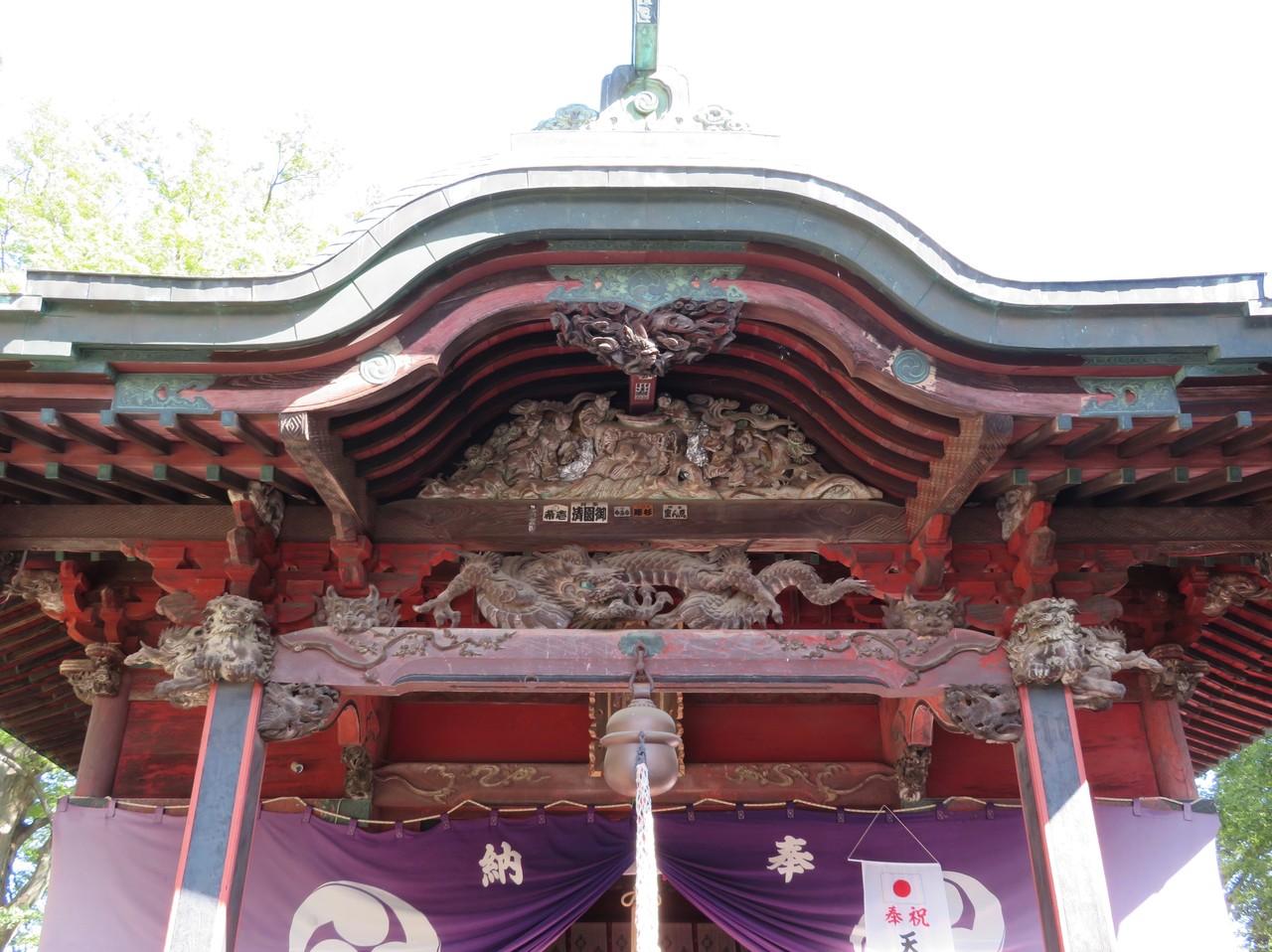 東石清水八幡神社向拝