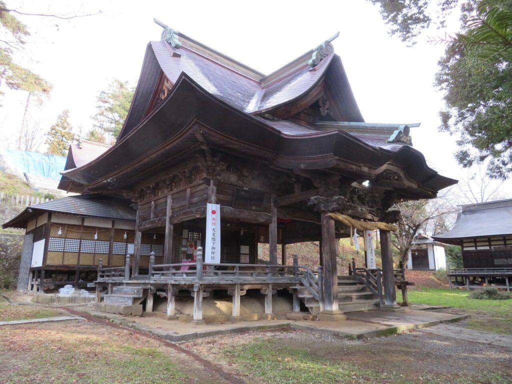 蚊里田八幡宮社殿