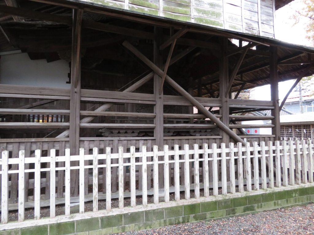 龍ヶ崎八坂神社覆い屋