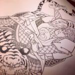 刺青図柄の意味 和藤内の虎退治