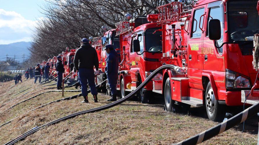 笠間市消防出初式