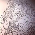 刺青図柄の意味 オオナムチノミコト「大鷲退治」