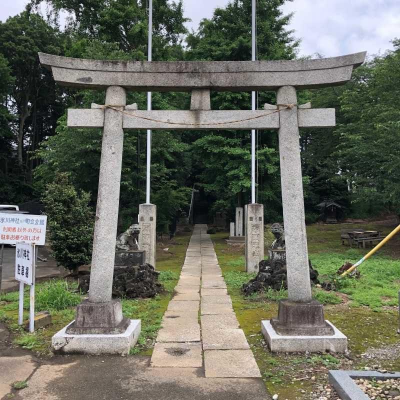赤井氷川神社鳥居