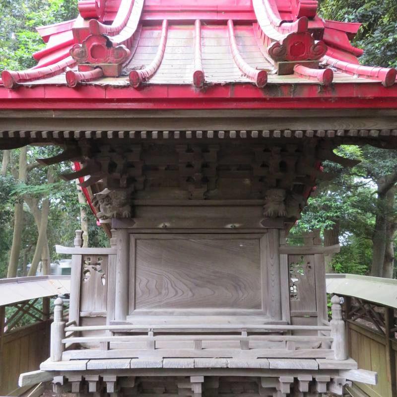 五條谷稲荷神社背面