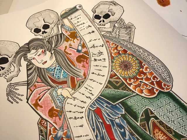 刺青図柄の意味 滝夜叉姫(たきやしゃひめ)