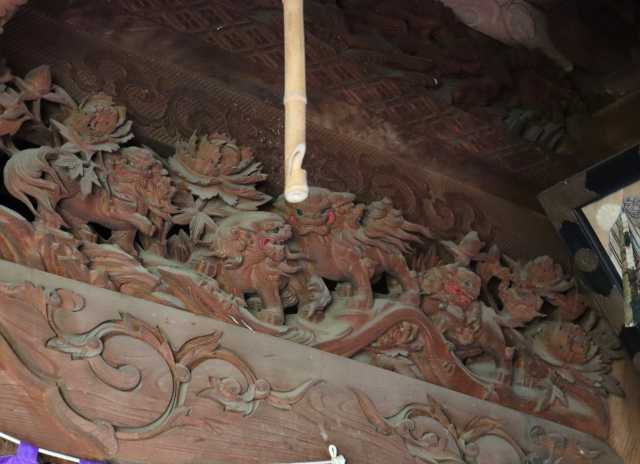 密蔵院護摩堂内欄間