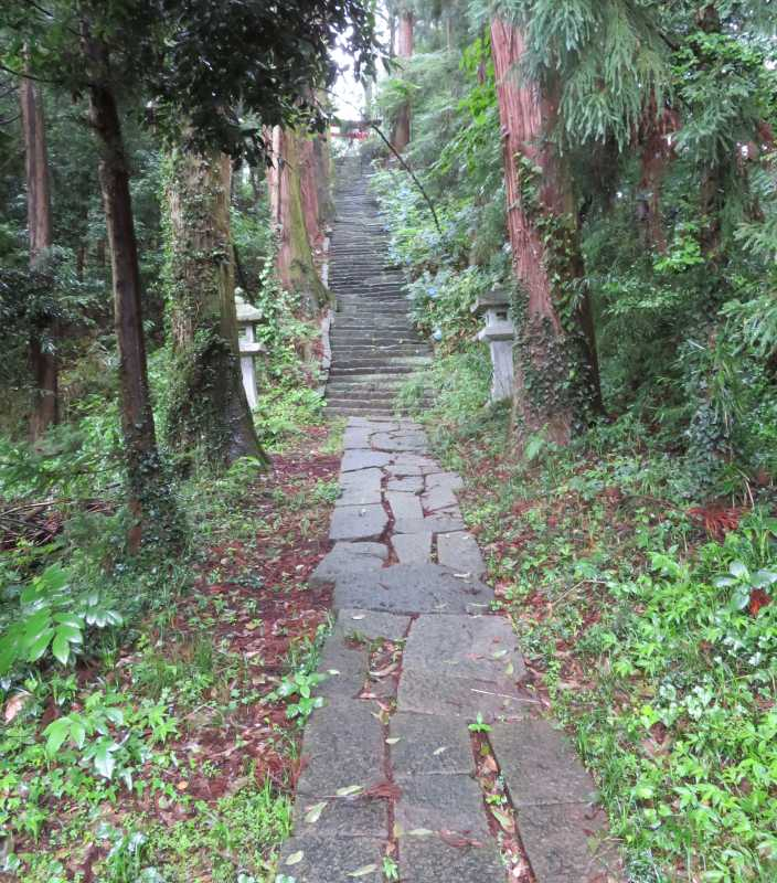 月夜野神社参道