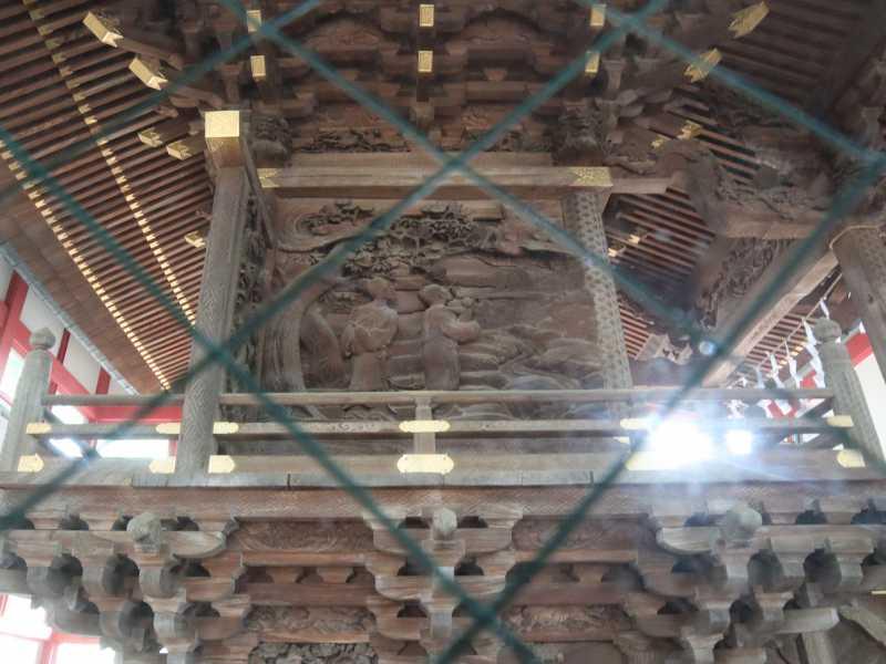 秋津神社御本殿左面