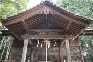 六所神社拝殿向拝