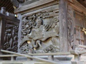 畑山神社御本殿左面胴羽目と脇障子