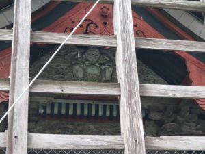 大川島神社御本殿妻飾り