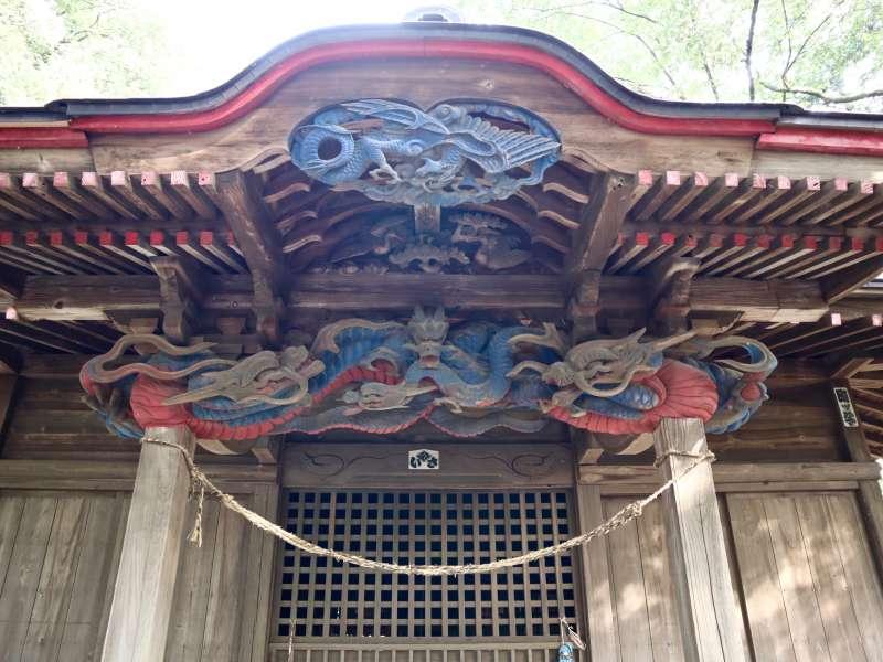 山田神社拝殿向拝