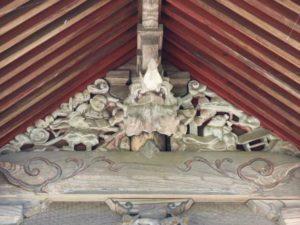 熊野神社(長沼八幡宮境内社)妻飾り
