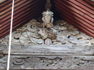 二荒山神社(長沼八幡宮境内社)妻飾り
