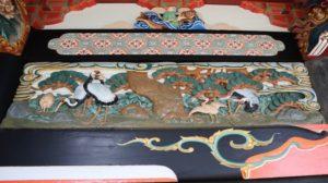 熊野神社拝殿正面小壁