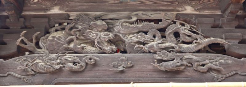 小比企稲荷神社拝殿向拝の龍