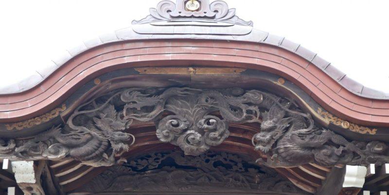 小比企稲荷神社向拝唐破風