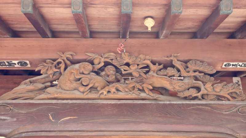 吉町日枝神社向拝