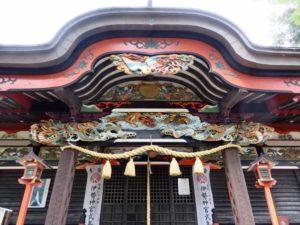 熊野神社拝殿向拝