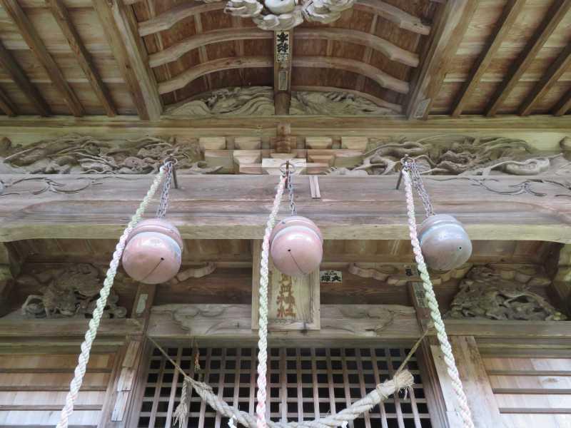 月波神社拝殿向拝