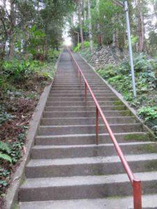 雨武主神社参道階段