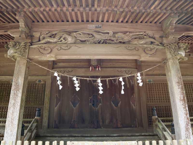 府馬愛宕神社拝殿向拝