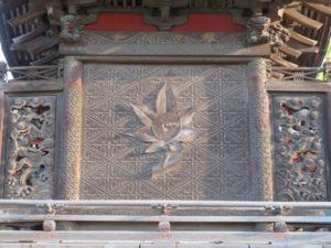 太田春日神社御本殿背面