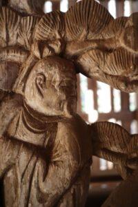 鹿島神社本殿左側脇障子