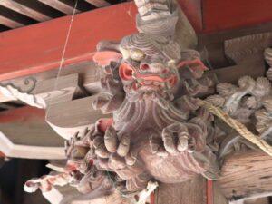 大形鹿島神社 向拝木鼻 吽形