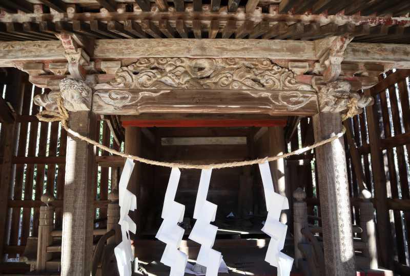 鹿島神社本殿向拝