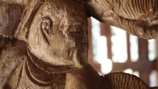 鹿島神社左側脇障子