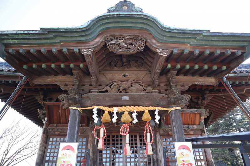 諏訪神社拝殿向拝