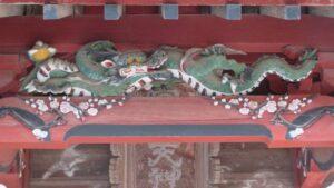 天神社拝殿向拝の龍