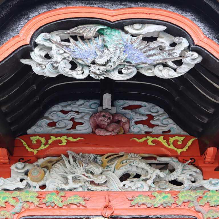 根古谷神社向拝