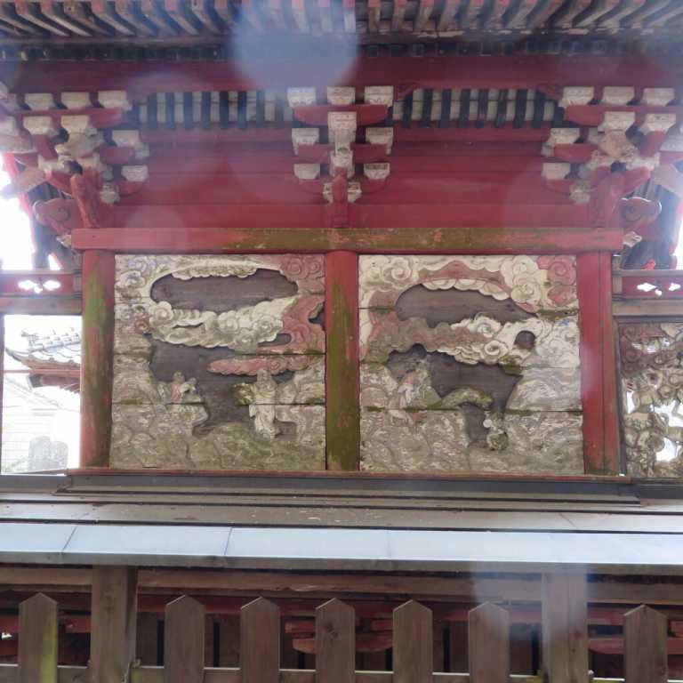 大鳥籠守神社御本殿背面