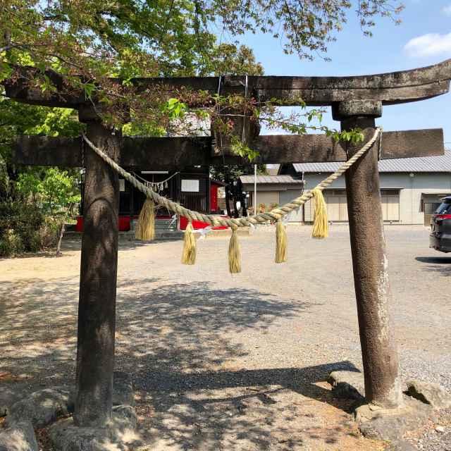 田中 諏訪神社鳥居