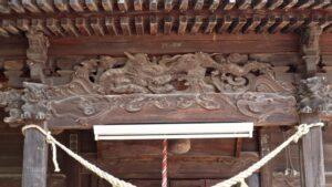 田中 諏訪神社拝殿向拝