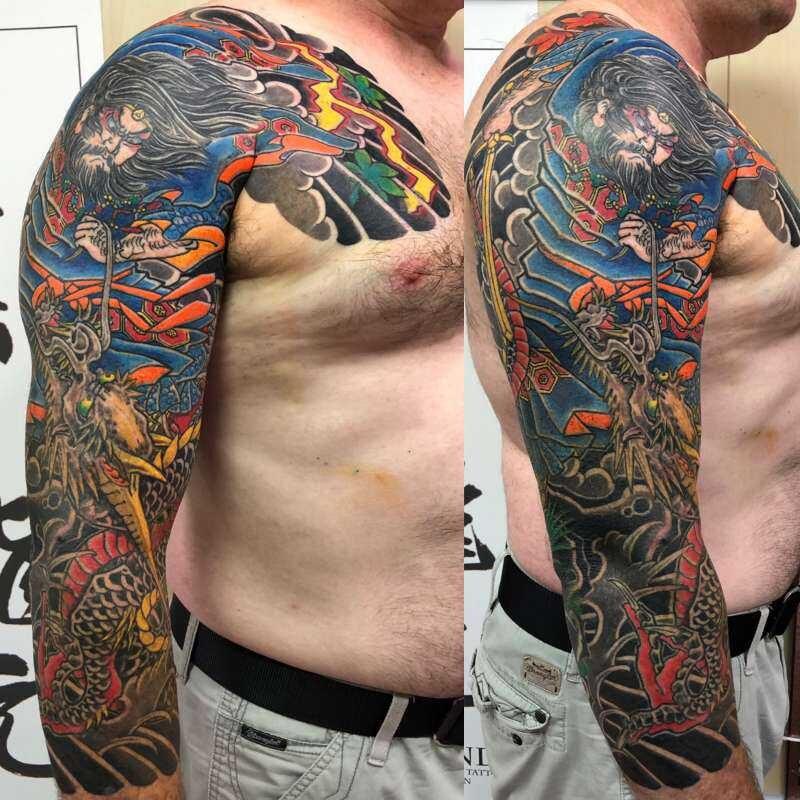 素戔嗚尊の大蛇退治 肩額七分袖