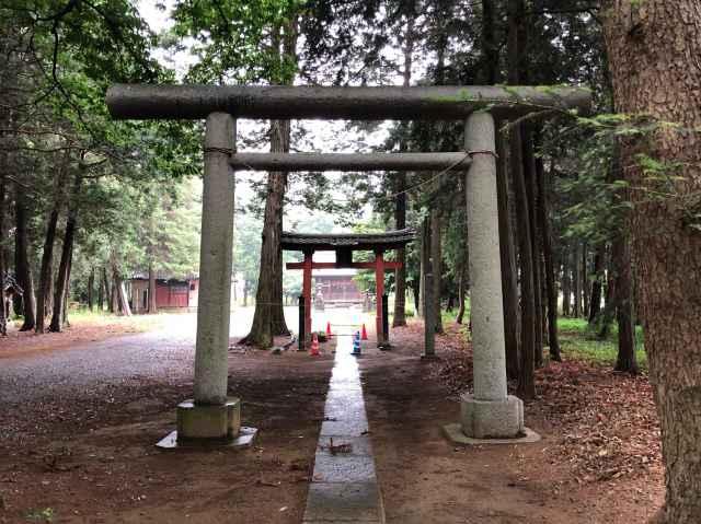 高虫氷川神社鳥居