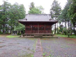 高虫氷川神社拝殿