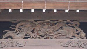 千勝神社拝殿向拝の龍