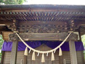 岡部神社拝殿向拝
