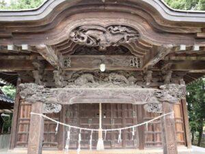 元巣神社拝殿向拝